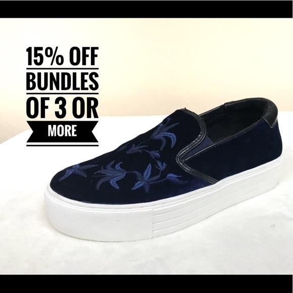 364ad29a8e9 Kenneth Cole Shoes - NWOT Kenneth Cole blue velvet platform sneakers